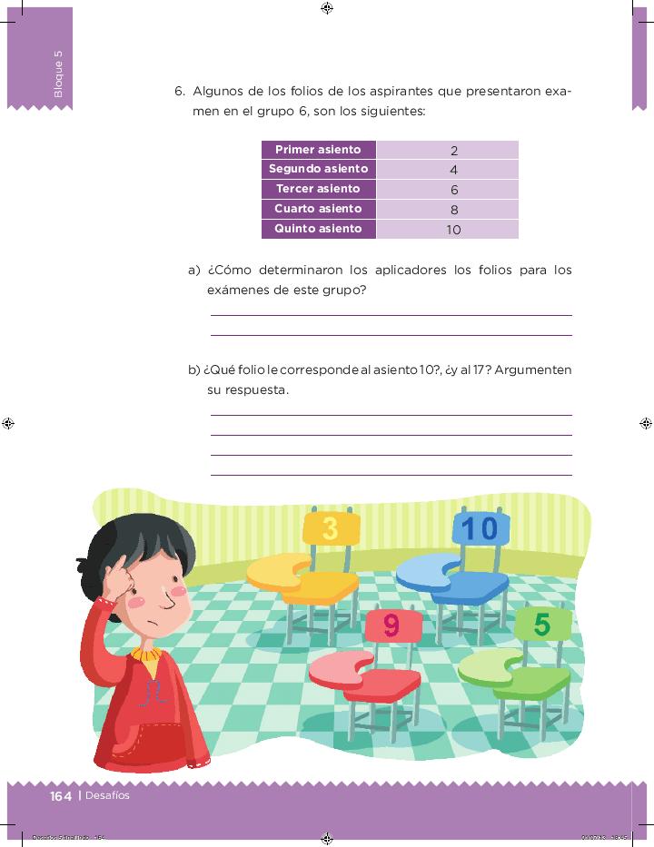 ¿Cúal es el patrón? - Desafíos matemáticos 5to Bloque 5 2014-2015