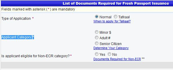 Passport application form online for Documents required for passport online application
