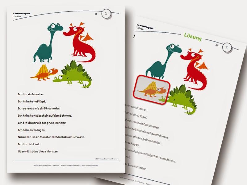 Logicals Grundschule Klasse 2-3 Leseverständnis Material kostenlos