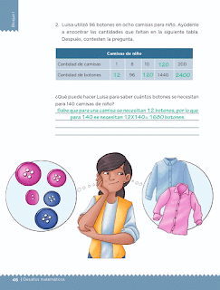 Respuestas Apoyo Primaria Desafíos matemáticos 5to grado Bloque I lección 17 Botones y camisas