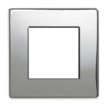 Nexus FPCEMS2 2 Module Screwless Euro Plate in Polished Chrome