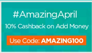 mobikwik amazing april 10% cashback offer