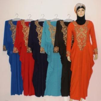 Gamis Kerancang Bordir Gkm4423 Grosir Baju Muslim Murah
