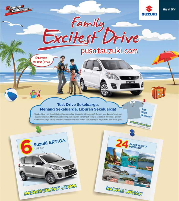 program family test drive ertiga