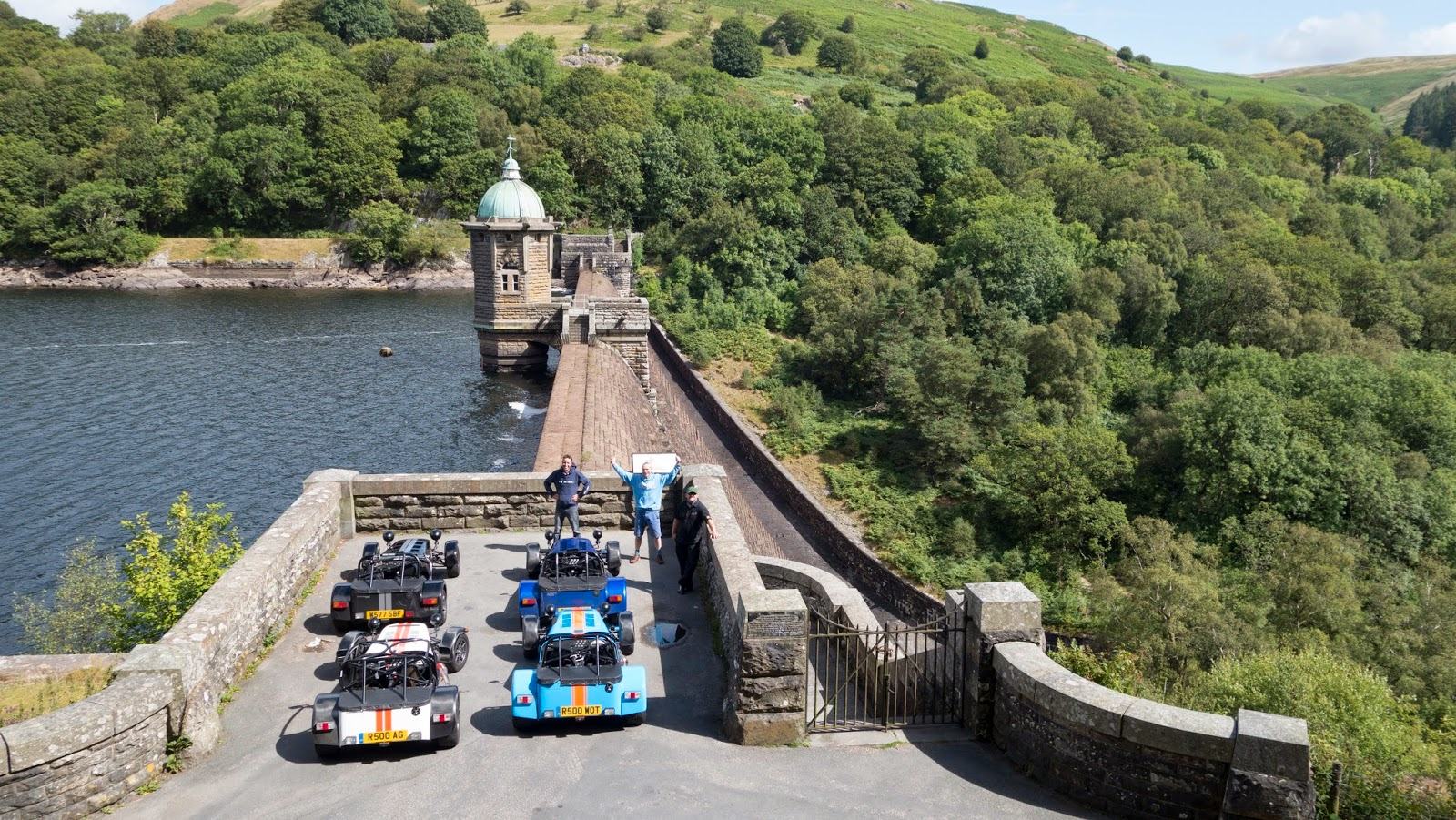 2x Caterham R500's, 1x Caterham R300 and 1x Caterham K series 1600 Supersport at the Pen Y Garreg Dam