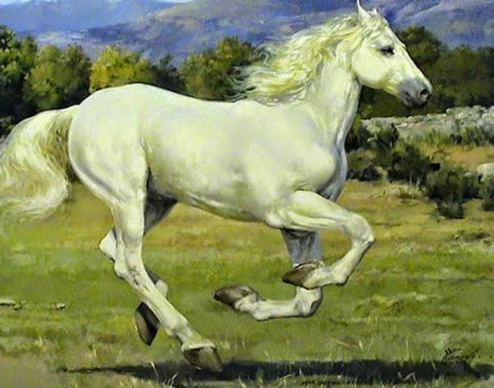 caballos-blancos-en-pintura-oleo
