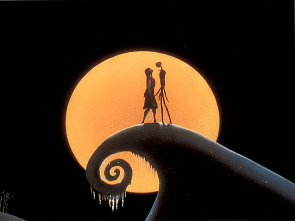 Jack e Sally si baciano sul monte innevato