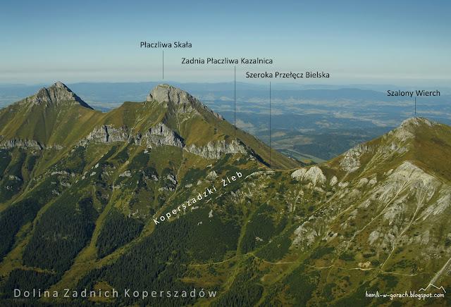 Widok na Szeroką Przełęcz Bielską z Jagnięcego Szczytu