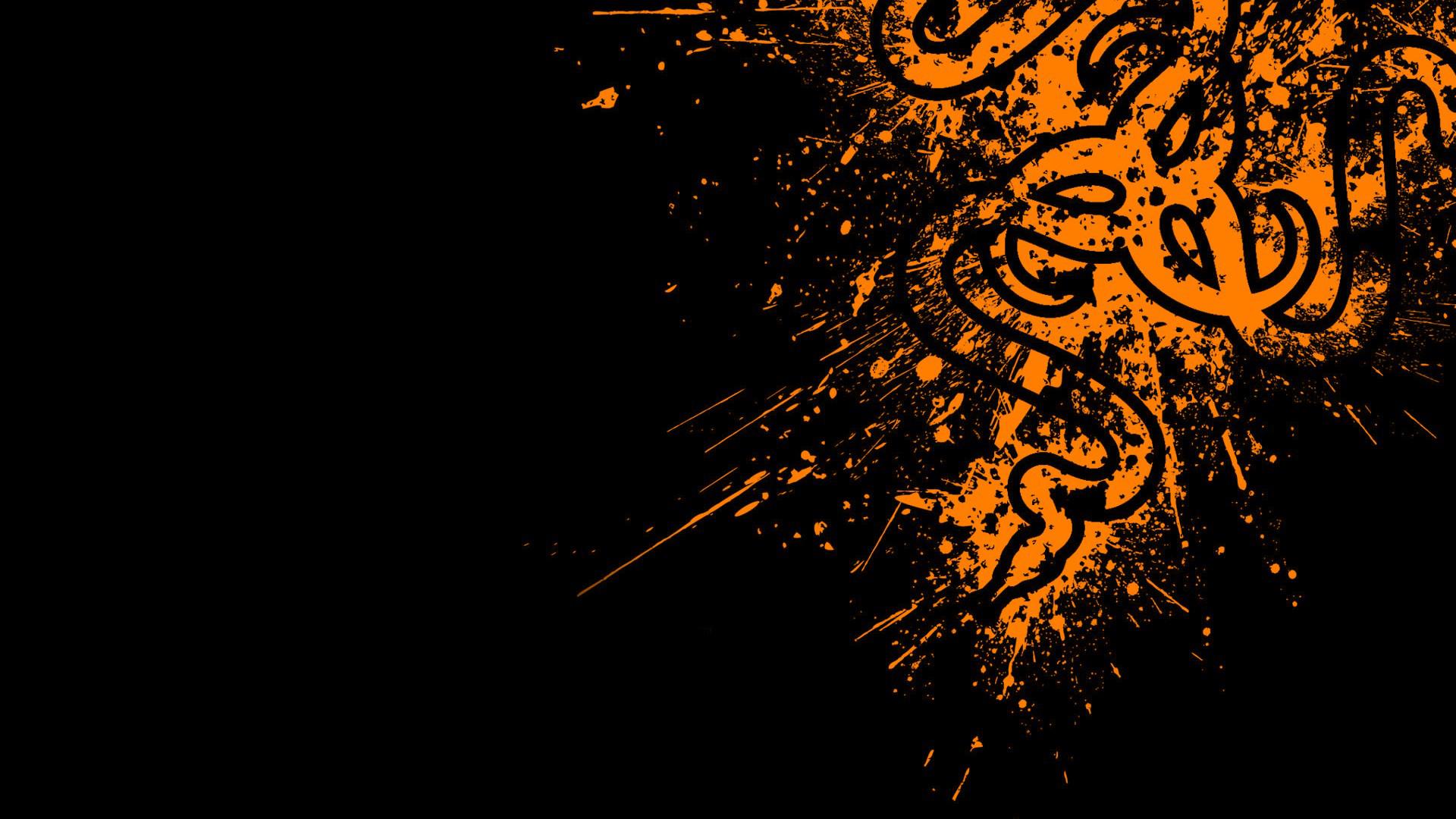 Razer logo orange 15 wallpaper hd razer orange logo black background hd voltagebd Image collections