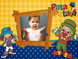 Montagem de fotos dia das crianças com patati patata