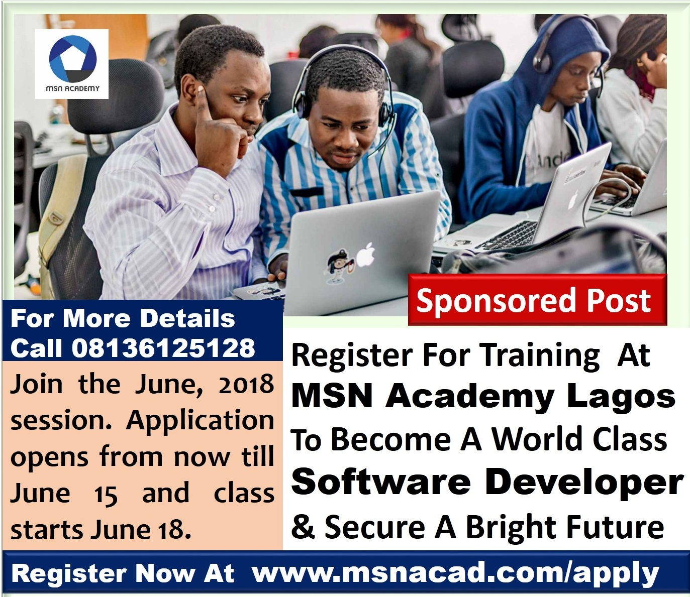 Register For Software Development Training In Maryland Lagos