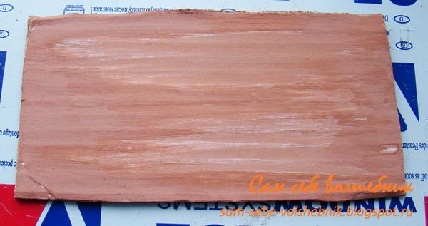 Имитация дерева или деревянной основы в декупаже