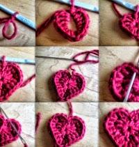 paso a paso de corazón crochet