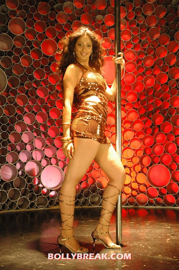 Lakshmi Rai performing a hot pole dancing song while showing her thighs - Lakshmi Rai Pole Dancing photo Shoot 
