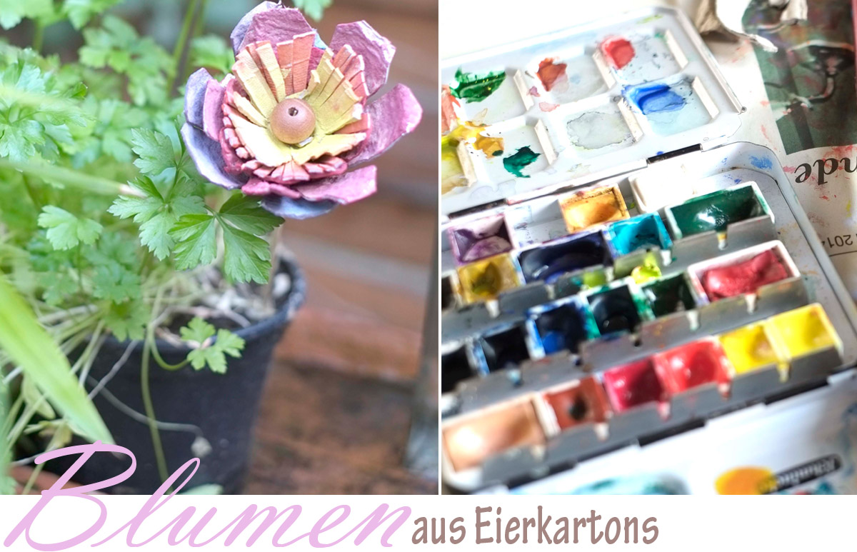 alessas blog diy blumen aus eierkarton. Black Bedroom Furniture Sets. Home Design Ideas
