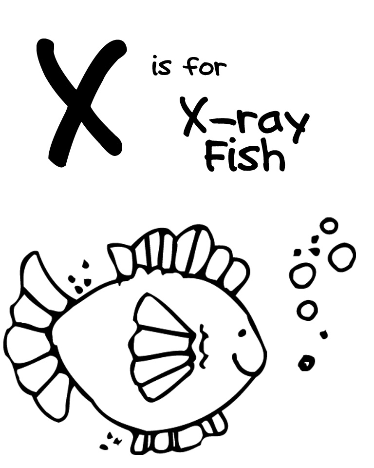 x is for x ray coloring pages - photo #22