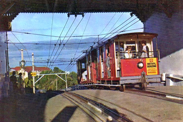 Transpress Nz At The Top Of The Wellington Cable Car 1960s