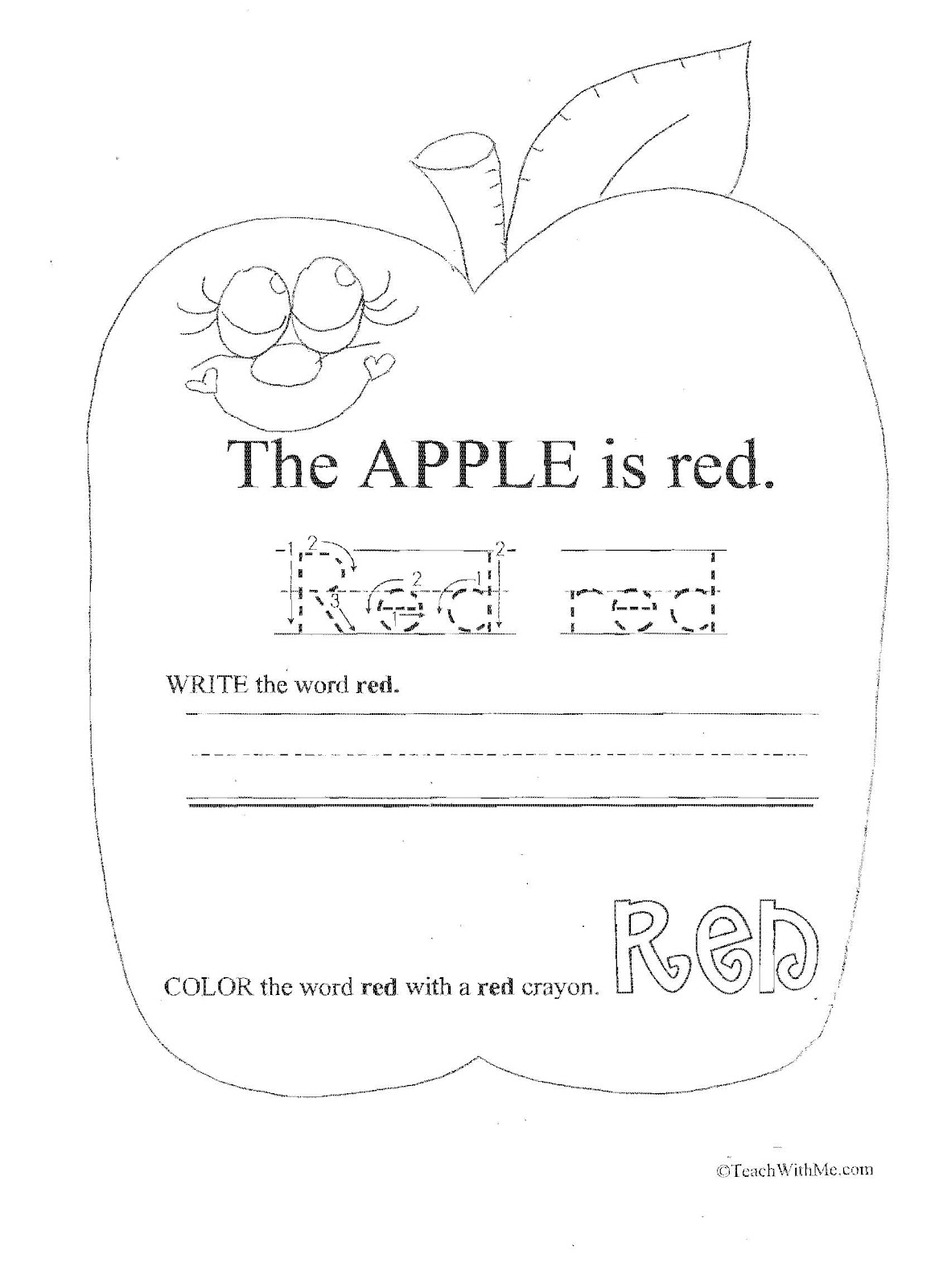 Classroom Freebies: Color Words Packet