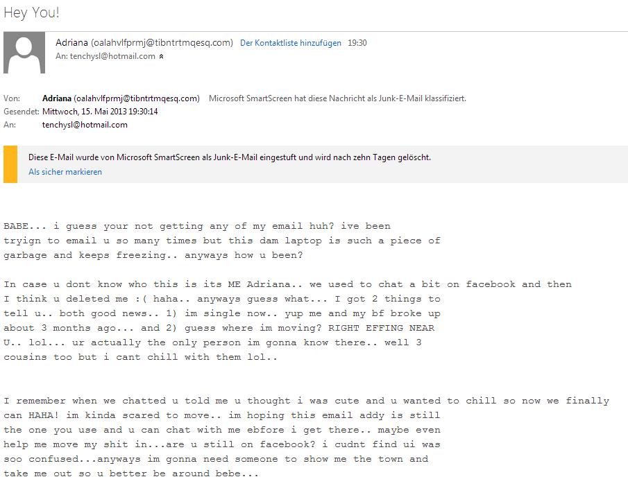 Answering Spam-Mails #1   Sturmflut93