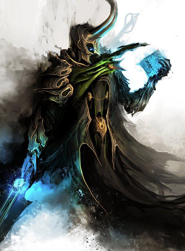 Deus Loki, em sua forma Fantasma.(freestyle)
