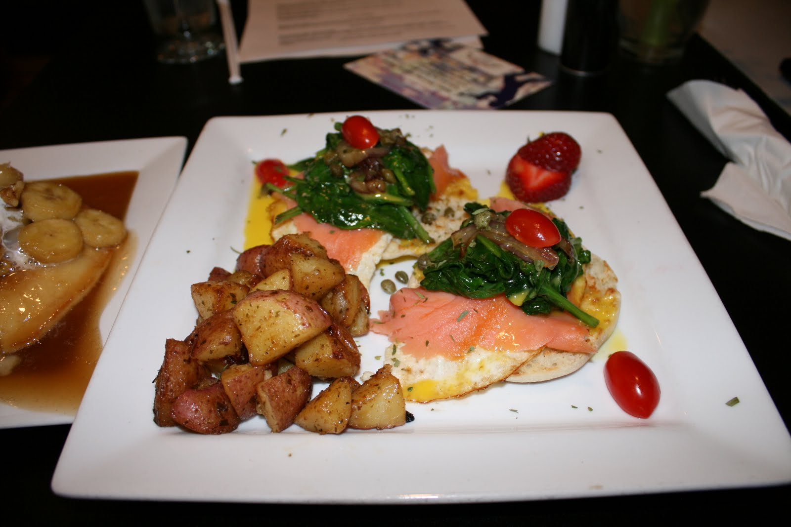 and had their own original spice blend peppered on them this is fun if you way to change it up from the traditional eggs benedict - Garden Brunch Cafe