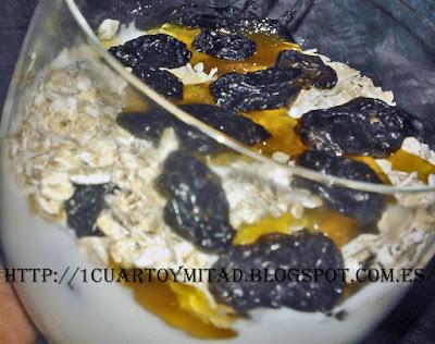 yogur griego con copos de avena