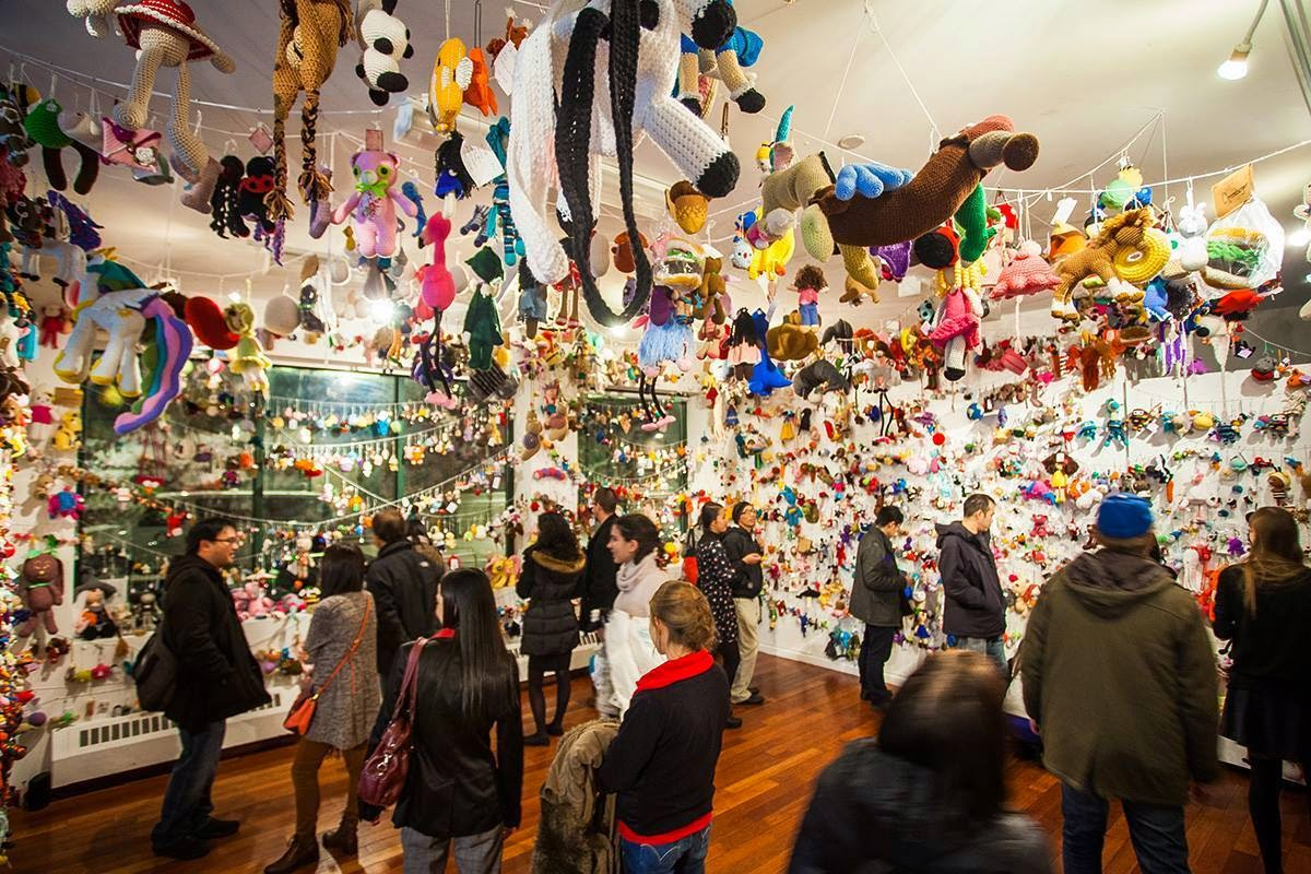stuff susie made: Kewpies in NYC! Resobox Amigurumi Exhibition