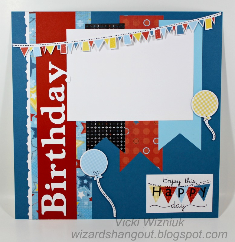 Wizard's Hangout: A Fanfare Birthday Layout