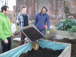 Joe Moore (far right) at the Garden
