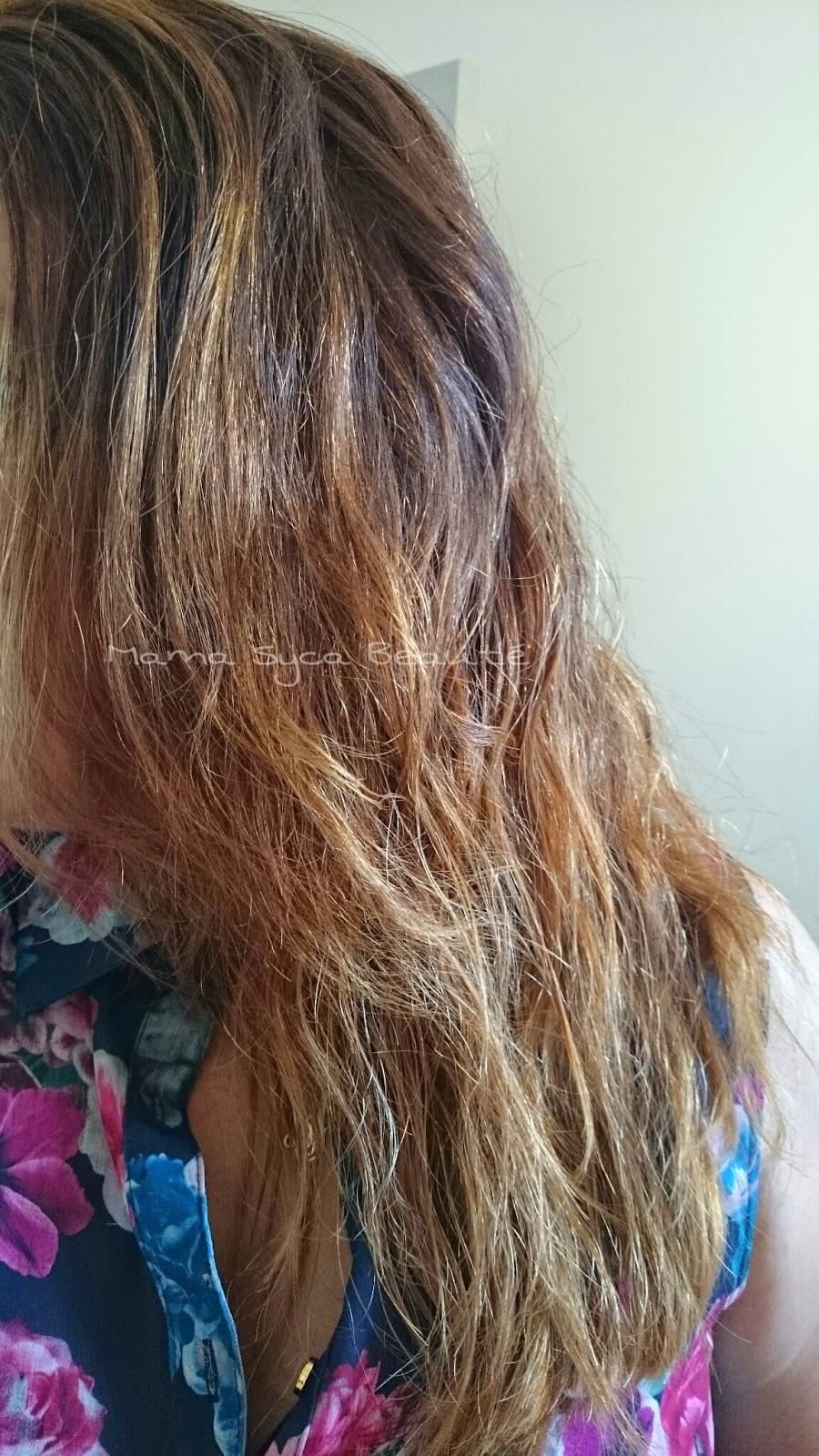 que la diffrence est visible par contre ce que vous ne voyez pas cest la douceur jadoooooore mes cheveux aprs ce soin ils sont super mga doux 3 - Soin Cheveux Blond Colors