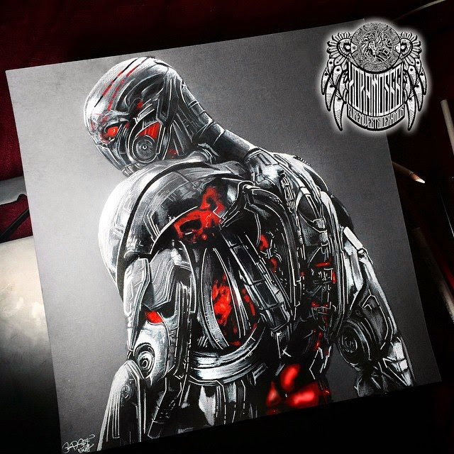 13-Ultron-Ramos-Ruben-xoramos661-Photo-Real-Comic-Book-Coloured-Drawings-www-designstack-co
