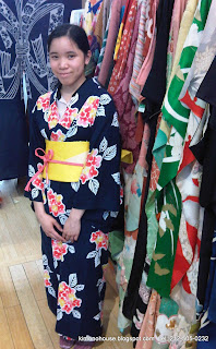 Kimono worn by young lady at Kimono House in New York City