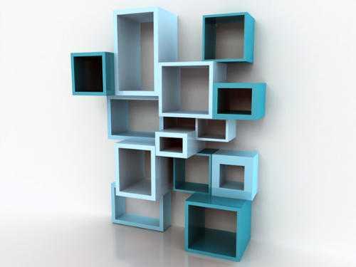 Книжные полки настенные интересный дизайн