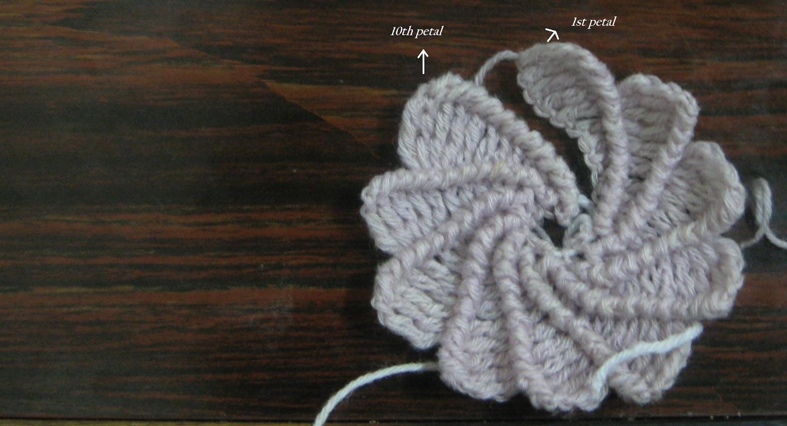 The Crochet Charm: Spiral Flower Pattern