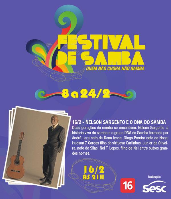 Sesc Teresópolis - Nelson Sargento e DNA do Samba (1º Festival de Samba)