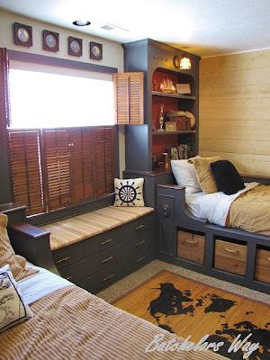 dormitorio pirata dos niños