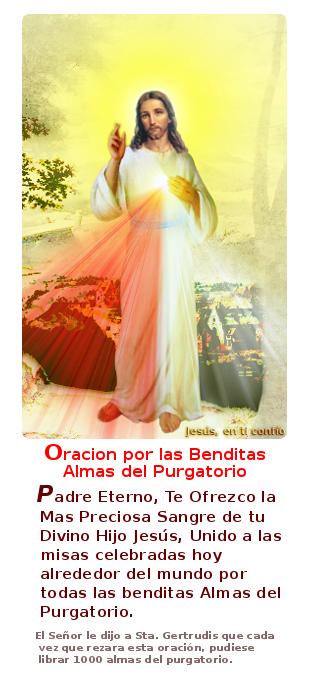 jesus con la oracion para sacar mil almas del purgatorio