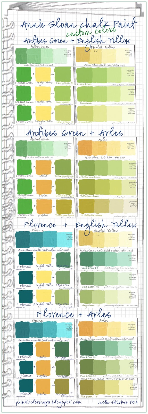 Colorways Annie Sloan Chalk Paint Green Custom Color Swatches