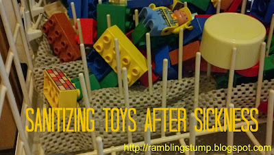 how to clean legos, sanitizing toys, getting rid of germs, cleaning toys after poop in the tub