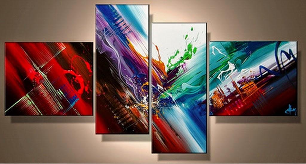 Cuadros modernos pinturas y dibujos tripticos abstractos for Imagenes cuadros abstractos modernos