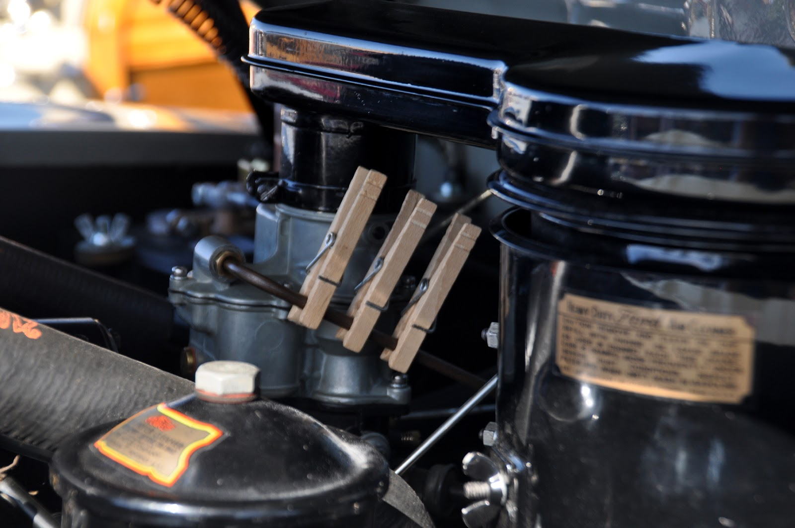 Image result for clothes pins on fuel lines