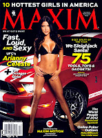 Arianny Celeste wearing black bikini on the cover of Maxim magazine December 2012 issue