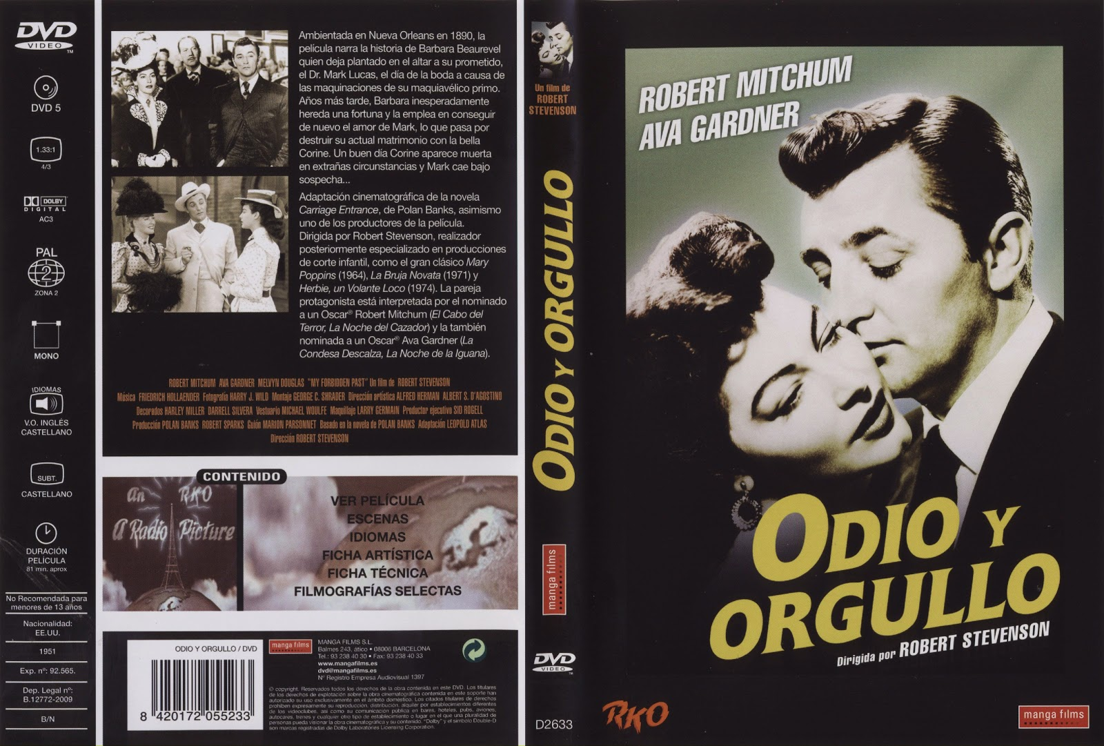 Odio y orgullo (1951 - My Forbidden Past)