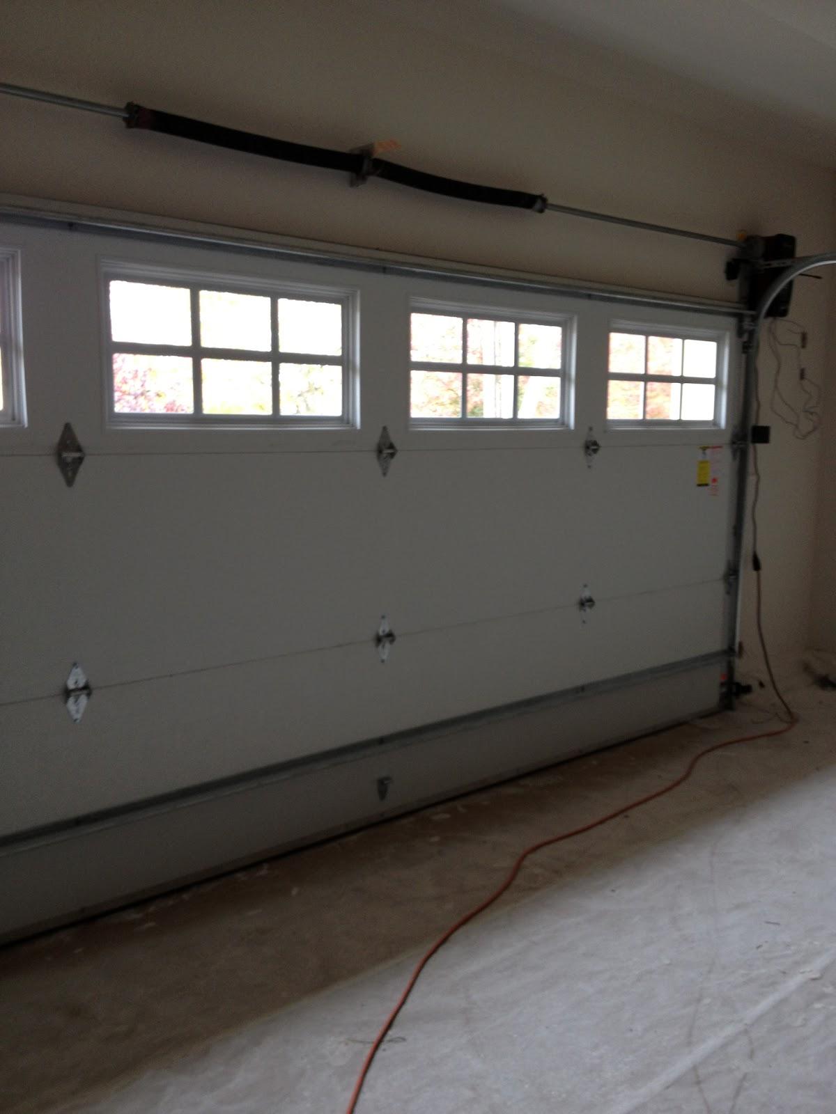 1600 #857346  Home From The Ground Up: Progress Photos Garage Door Installation pic Garage Doors Installed 36811200