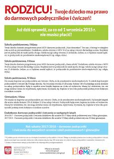 informacja MEN nt. darmowych podręczników