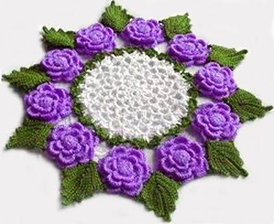 Pasatiempos hobbies manualidades for Centro de mesa a crochet