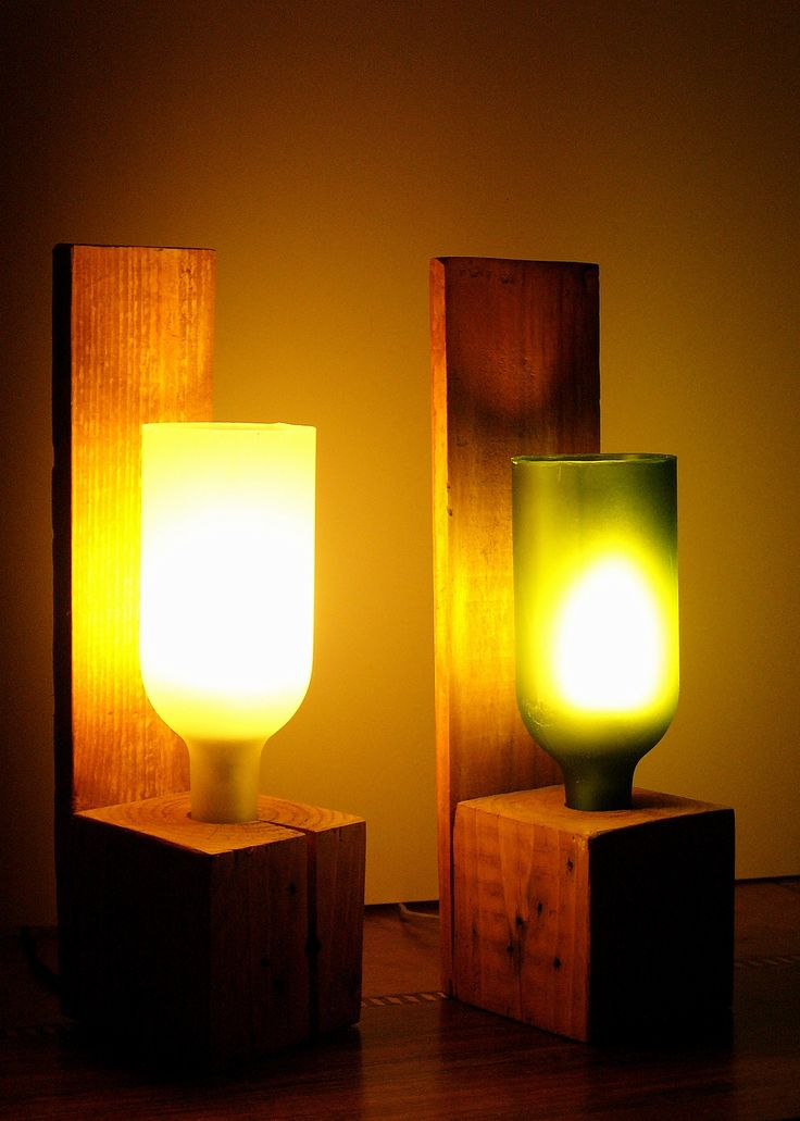 Luminária reutilize garrafa