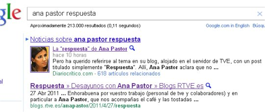 captura en Google
