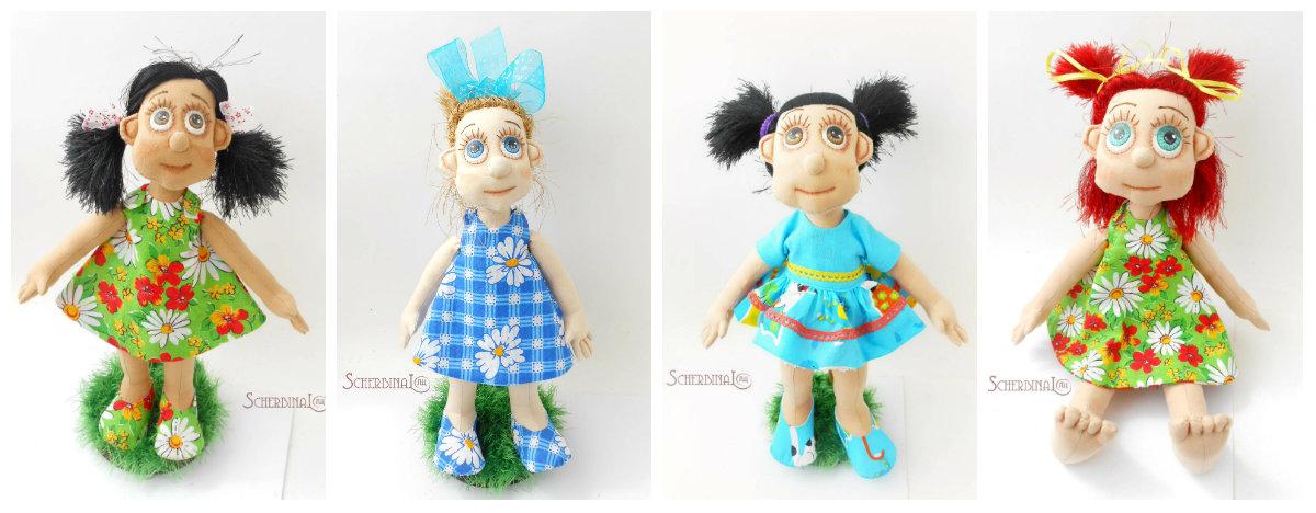 игровые текстильные куклы-карамельки