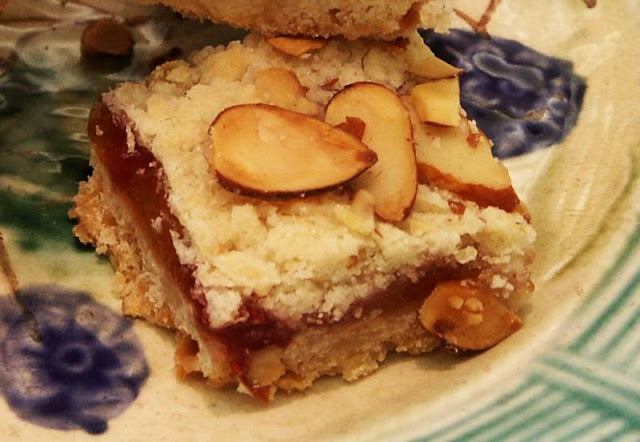 Moveable Feasts: Peach Melba Shortbread Squares
